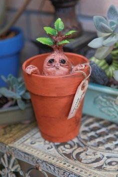 CUTE Mandragora Mandrake root creature by netherworldoddities