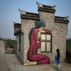 Tales from the countryside, Plum Blossom, part 7, Fengzing, China - Street Art by Seth Globepainter  <3 <3