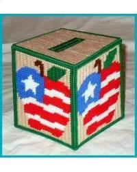 USA Apple Tissue Box Cover