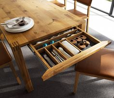 dining tables with drawers
