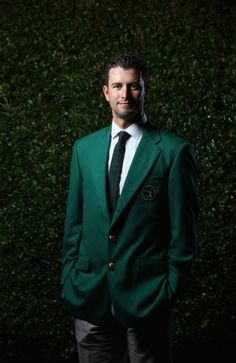 "Adam Scott looking handsome in the ""Green Jacket""!!"