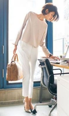 Simply chic nice 48 best and stylish business casual work outfit Casual Work Dresses, Summer Work Outfits, Work Casual, Dresses For Work, Casual Clothes, Casual Office, Casual Chic, Dress Summer, Smart Casual Outfit Summer