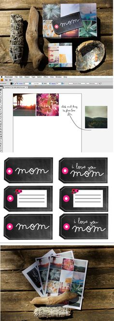 DIY - Free Printable Instagram Wrapping Paper and Mother's Day + Blank Gift Tags Also - Learn how to make your own instagram wrap too!