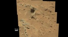 "Not two months into its mission NASA's Mars Science Laboratory rover, Curiosity, has made a finding on the surface of the Red Planet of another sign that Mars was once a wet world. NASA""s Jet Propu… Cosmos, Nasa Rover, Water On Mars, Deep Water, Mars Science Laboratory, Nasa Curiosity Rover, Nasa Pictures, Stream Bed, Red Planet"