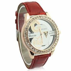 Tanboo Women's Leather Band Analog Quartz Wrist Watch With Fashion Hollow Pattern (Red) by Tanboo. $12.99. Casual Watches. Women's Watche. Wrist Watches. Gender:Women'sMovement:QuartzDisplay:AnalogStyle:Wrist WatchesType:Casual WatchesBand Material:PU, LeatherBand Color:RedCase Diameter Approx (cm):4Case Thickness Approx (cm):1.5Band Length Approx (cm):23Band Width Approx (cm):1.8