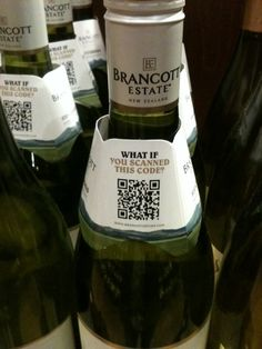 QR codes & wine. Cool #business and #tech idea!
