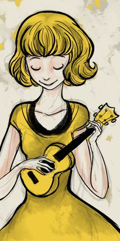 jemshed on flickr  yellow ukulele