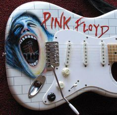 Pink Floyd guitar art The Wall Guitar Art, Music Guitar, Cool Guitar, Acoustic Guitar, Great Bands, Cool Bands, Musica Punk, Pink Floyd Art, Psychedelic Music
