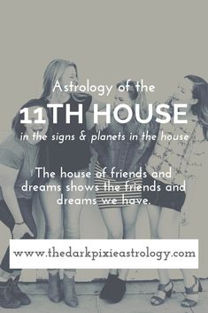In astrology, the house governs your friends, the dreams you have, as well as change and independence. Find general interpretations for the Learn Astrology, Love Astrology, Astrology Compatibility, Astrology Numerology, Astrology Chart, Astrology Zodiac, Astrology Signs, Pisces And Aquarius, Scorpio Moon