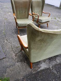 1950's Howard Keith HK Midcentury Modernist Sofa Curved Heals Danish Style Retro   eBay