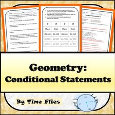 If you need a conditional statements activity, then buy this product. You need a conditional statement is the hypothesis and buy this product is the conclusion. This is just a taste of what you will find in this resource :)This geometry lesson covers conditional statements.
