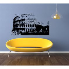 Rome Skyline City Sights History Old Wall Art Sticker Decal