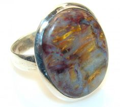 Instant Classic Pietersite Sterling Silver Ring s. 9