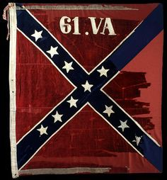 *FLAG ~ 61st Virginia Volunteer Infantry Regiment Battle Flag.