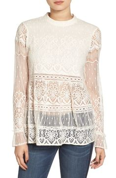 Hinge Lace Peplum Top available at #Nordstrom