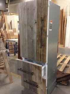 Antique barn board refrigerator panels!