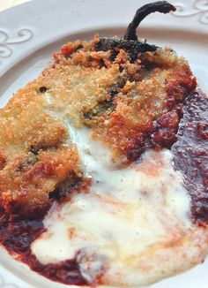 Chile Rellenos are traditionally cooked in a light, airy batter. While that is a delicious method, Panko provides more contrast in consistency — and seems to absorb less oil.