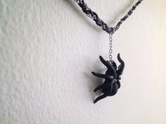 Handmade Tarantula Spider Necklace