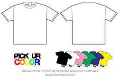 Free Blank TShirt Mockup Design Templates  Imagen Vectorial Free