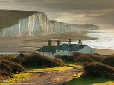 National Geographic Travel   -    A picturesque view of the Seven Sisters in England.   Photograph by Slawek Staszczuk
