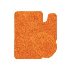 New orange Bath Rug Set