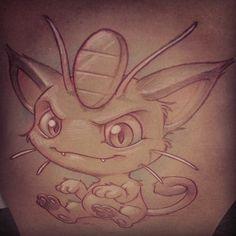 #Meowth that's right, motherfucker. #pokeymans #pokemon #newschool #sketch