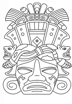 mayan mask coloring page from mayan art category select from 28356 printable crafts of cartoons nature animals bible and many more