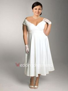 Plus size chiffon high low informal wedding gown with strapless