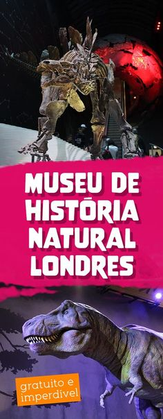 Museu de História Natural em Londres, passeio grátis para todas as idades