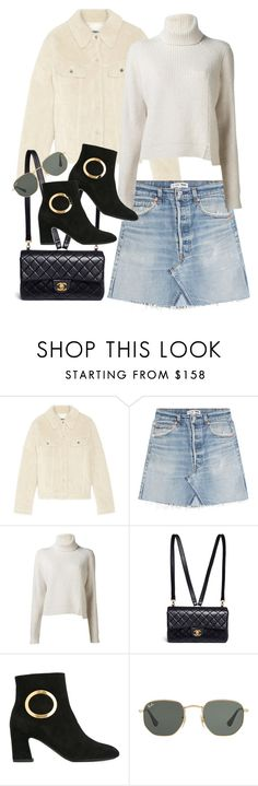"""Untitled #3283"" by angieswardrobe ❤ liked on Polyvore featuring MM6 Maison Margiela, RE/DONE, Proenza Schouler, Chanel, Roger Vivier and Ray-Ban"