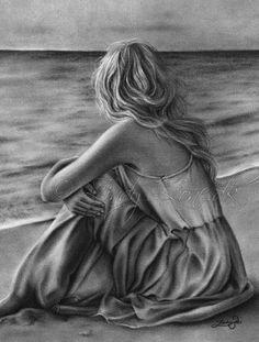 Sad Drawings, Dark Art Drawings, Pencil Art Drawings, Art Drawings Sketches, Shading Drawing, 3d Art Drawing, Drawing Ideas List, Graphite Art, Charcoal Art
