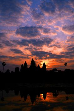 Angkor Wat, Siem Reap, Cambodia - Was worth it to wake up at 4:30am to catch the sunrise at Angkor Wat.