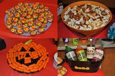 halloween party foods halloween.  Pinned this purely because of the carrot/olive/celery pumpkin.