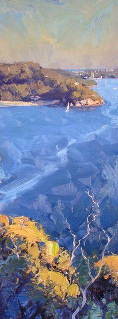 Warwick Fuller painting - Shark Bay Headland