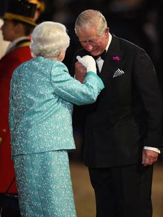 The Queen receives warm greeting from son Prince Charles