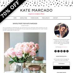 Kate Marcado WordPress Theme by Studio Mommy on @creativemarket
