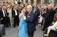 MYROYALS & HOLLYWOOD FASHİON: King Carl Gustaf's 40th Jubilee - City of Stockholm Celebrations-King Carl Gustaf and Queen Silvia dancing, September 15, 2013