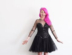 PROM TIME LADIES . sequins lace sheer polka dots . by DOTTO