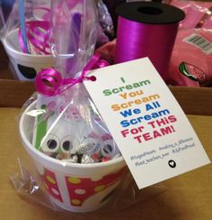 Staff appreciation Maybe ice cream bar! Employee Appreciation Gifts, Volunteer Appreciation, Employee Gifts, Teacher Appreciation Week, Volunteer Gifts, Volunteer Ideas, Staff Gifts, Team Gifts, Teacher Gifts