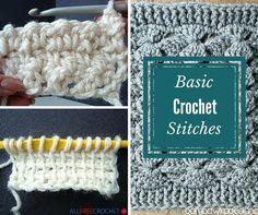 20+ Basic Crochet Stitches | AllFreeCrochet.com
