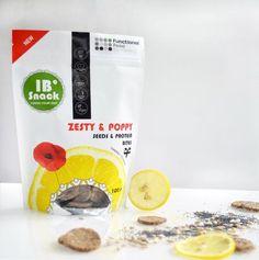 IBSnack Lemon and poppy seeds crackers Chocolate Snacks, Raw Chocolate, Coeliac Diet, Nut Free, Dairy Free, Healthy Foods, Healthy Recipes, Crackers, Allergies