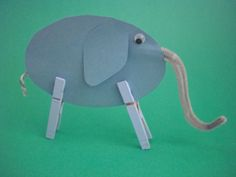 Easy Elephant Use for Elmer the elephant craft or as a stencil to draw one.