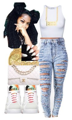 """I Lied - Nicki Minaj"" by mamiyanna ❤ liked on Polyvore featuring Estradeur, Retrò, Michael Kors and Chanel"