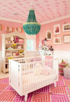 The 13 Chicest Celebrity Nurseries via @MyDomaine Kourtney Kardashian