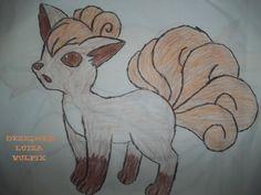 Vulpix Pokémon desenho à lápis
