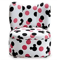 Mickey Mouse Magical Mini Wing Chair | Disney Store The bow-shaped back and iconic print of this Magical Mini Wing Chair gives a nod to Disney's first couple. With its sturdy construction and shapely silhouette, it's perfect for the craft table, tea party, or workstation.