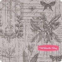 Quill Feather Botanical Sketchbook Yardage <br/>SKU
