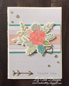 Create with Liz: Thank You Card using Hello Lovely #CTMHHelloLovely