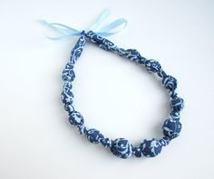 Steel Blue and Light Blue Beaded Nursing Necklace by RubyRebels, $14.00