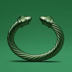 David Yurman limited-edition Renaissance bracelet in hunter green aluminum.